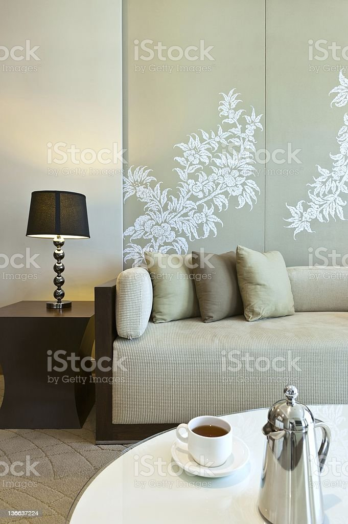 A lovely styled modern lounge sitting area royalty-free stock photo