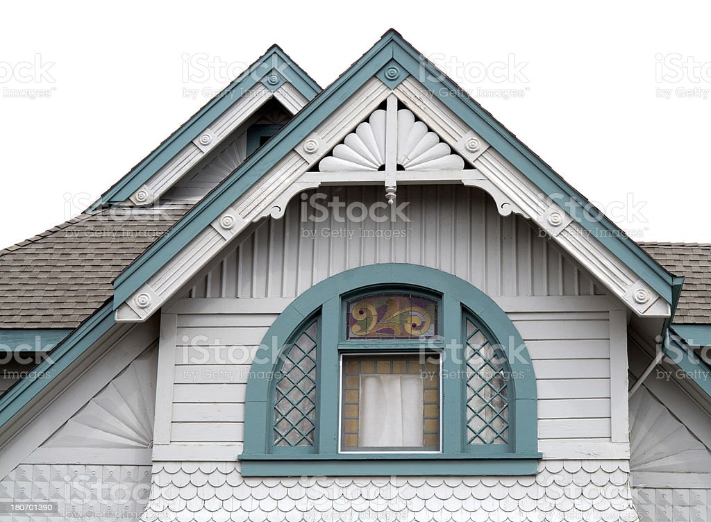Lovely Victorian roof and steeple royalty-free stock photo