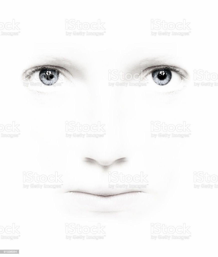 lovely white face royalty-free stock photo