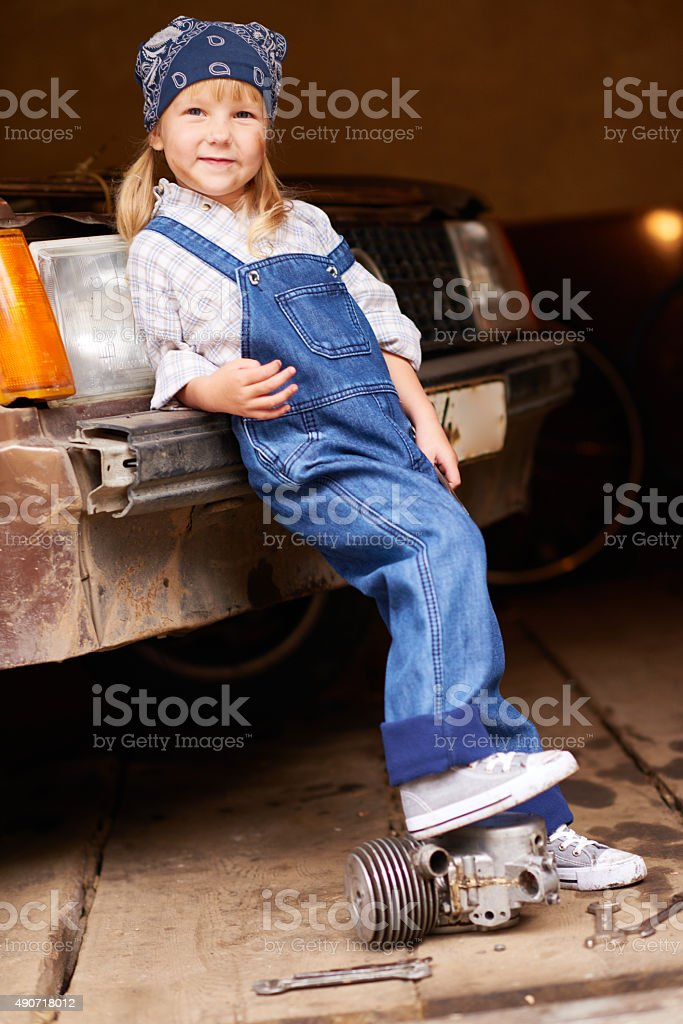 Lovely worker stock photo