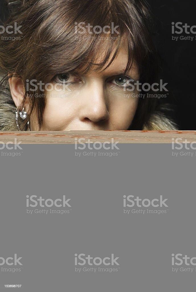 Lovely young woman enjoying the sun stock photo