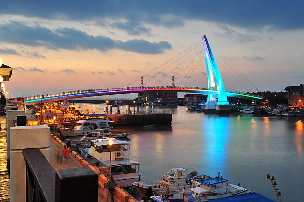 Lover-Brücke und Hafen in Tamsui, Taiwan – Foto