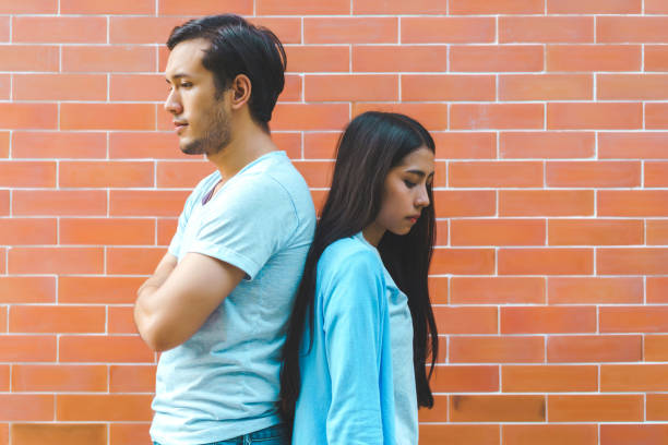 Lover have problems. Couple breakup. Lover have problems. Couple breakup. asian couple arguing stock pictures, royalty-free photos & images