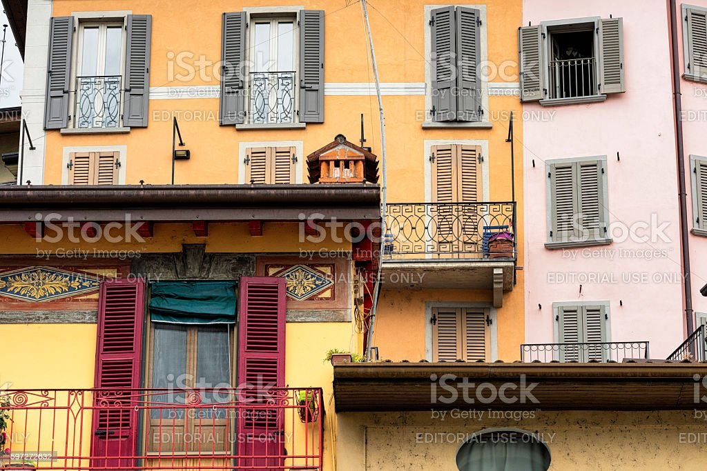 Lovere (Bergamo, Italy), historic square royalty-free stock photo