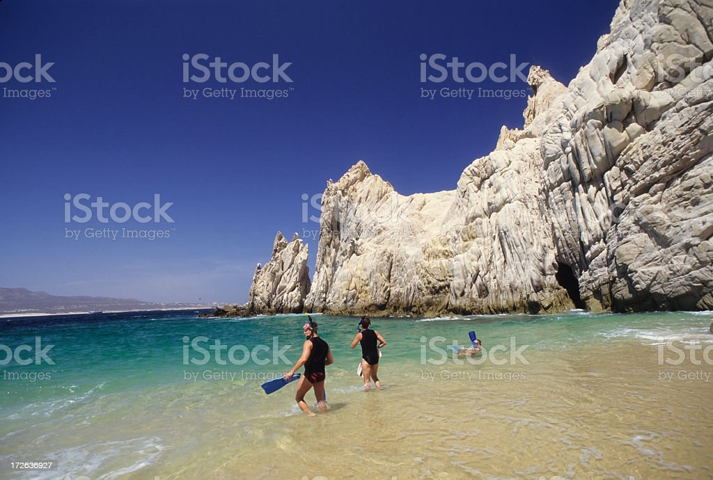 Lovers beach best to mountains stock photo
