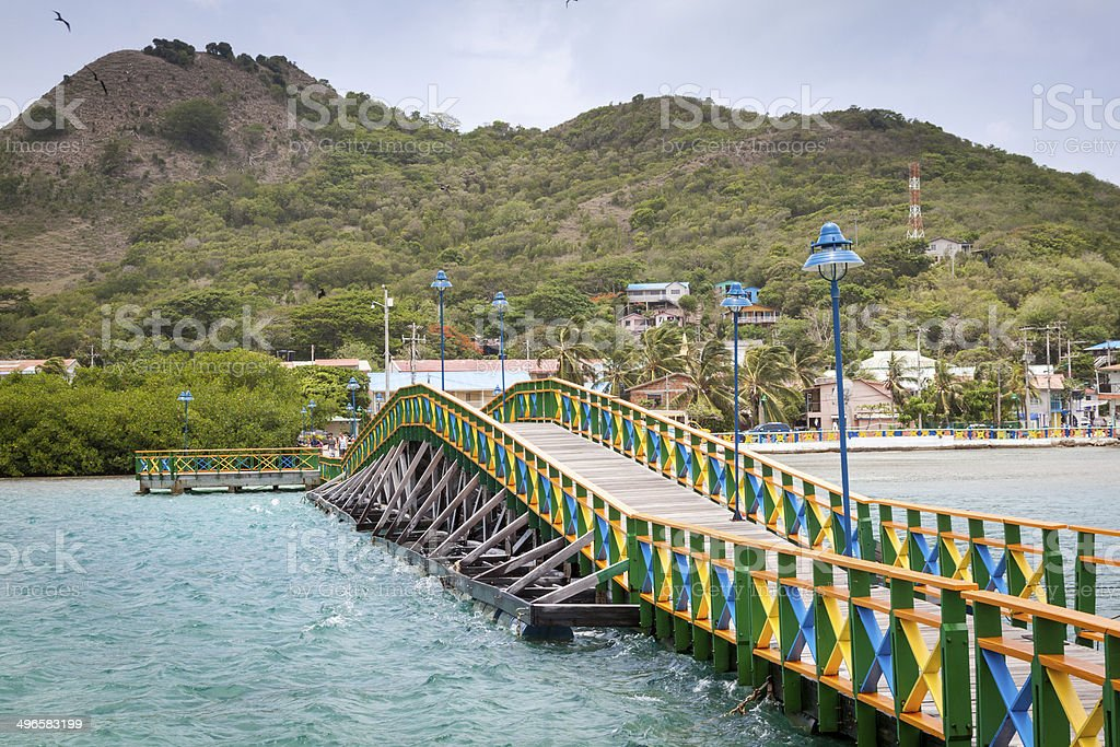 Lovers bridge connecting Santa Catalina and Providencia, Colombia stock photo