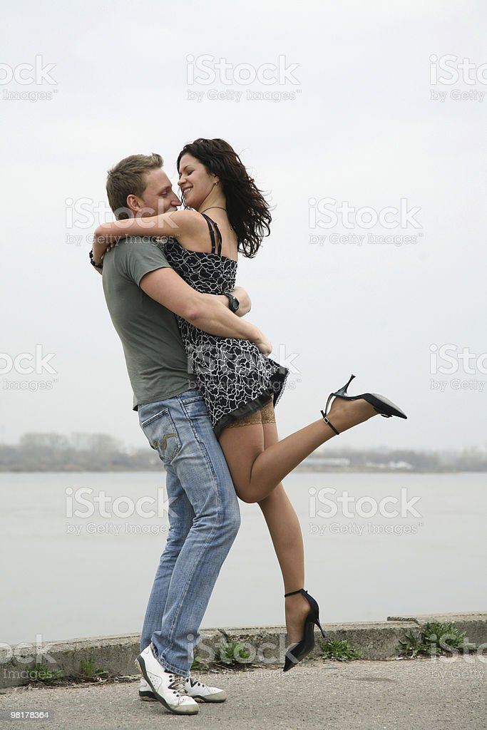 Lovers embraces royalty-free stock photo