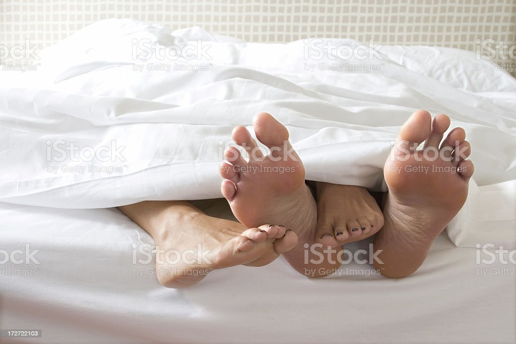 Lover's feet stock photo