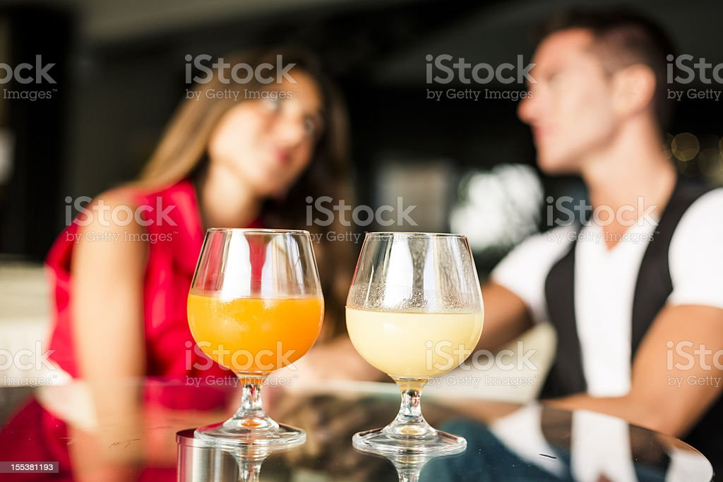 Lovers in a Pub royalty-free stock photo