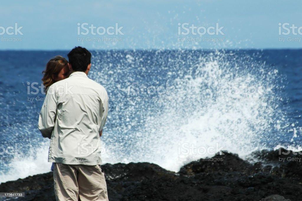 lovers in sprinklings royalty-free stock photo