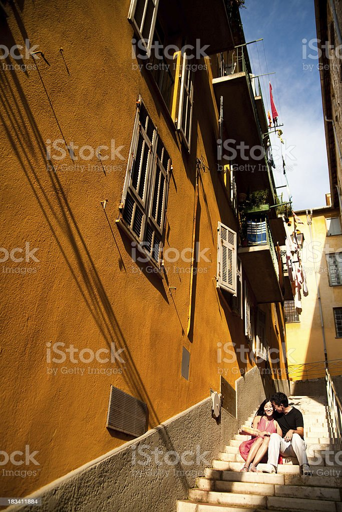 Lovers in the City of Nice royalty-free stock photo