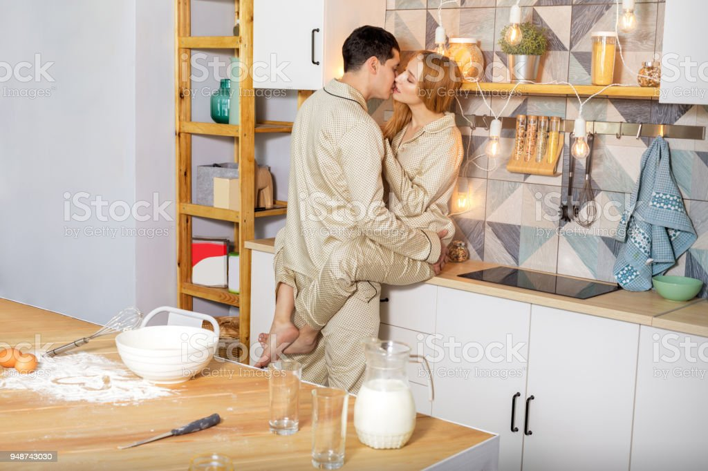 Lovers In The Kitchen In The Morning Stock Photo Download Image Now Istock
