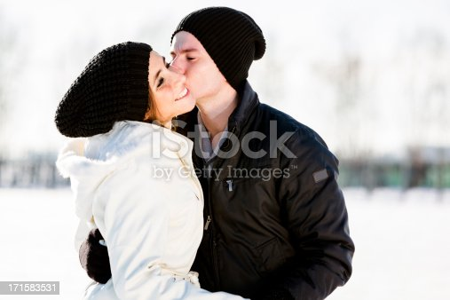 872969580 istock photo Lovers in winter 171583531