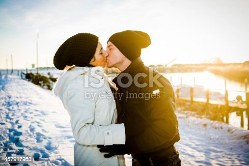 872969580 istock photo Lovers in winter 457917953