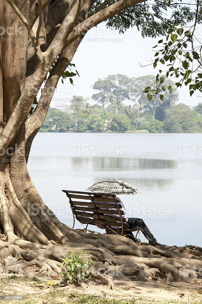 Lovers in Yangon royalty-free stock photo