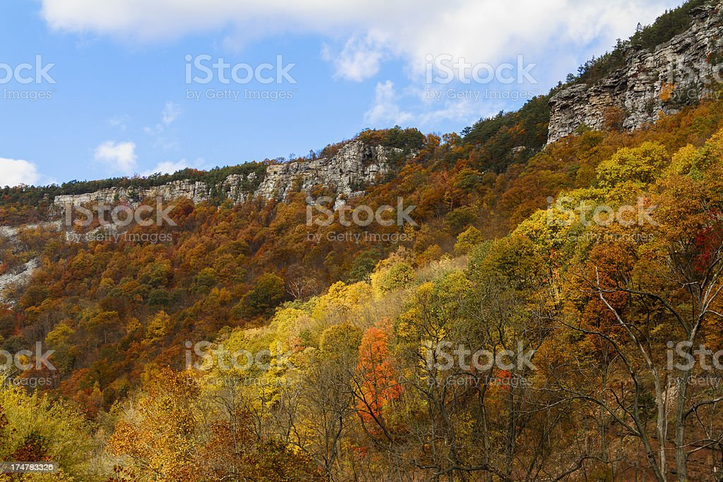 Lovers Leap, Cumberland Maryland, Autumn stock photo