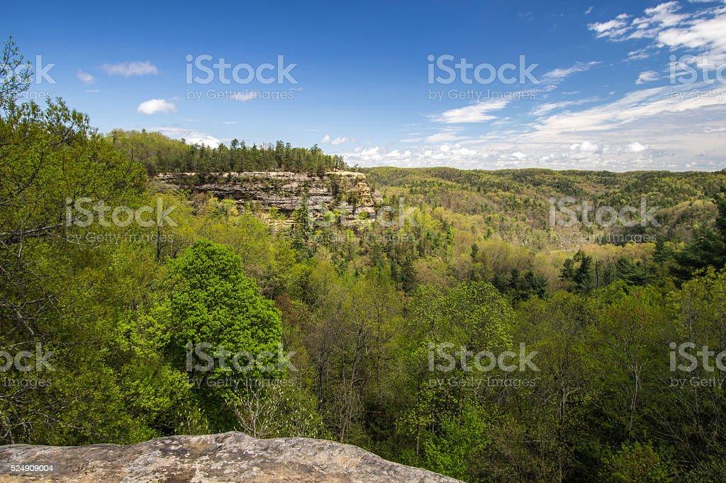 Lovers Leap Mountain In Kentucky stock photo