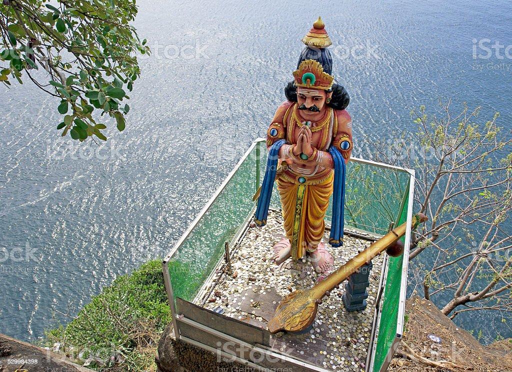 Lovers Leap,Koneswaram Temple, Tricomalee, Sri Lanka stock photo