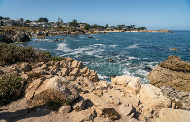 Lover's Point in Monterey, California stock photo