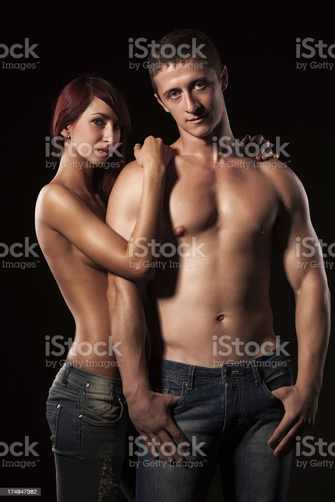 Lovers portrait royalty-free stock photo