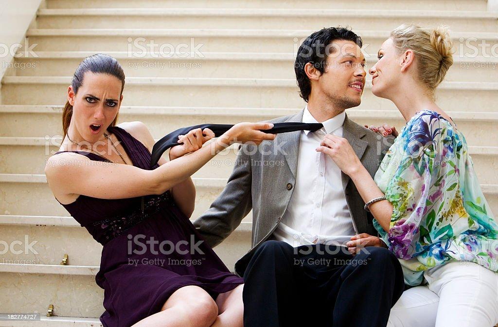 Lovers quarrel stock photo
