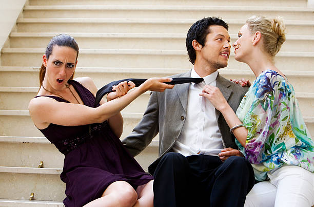 lovers quarrel - delude stock pictures, royalty-free photos & images