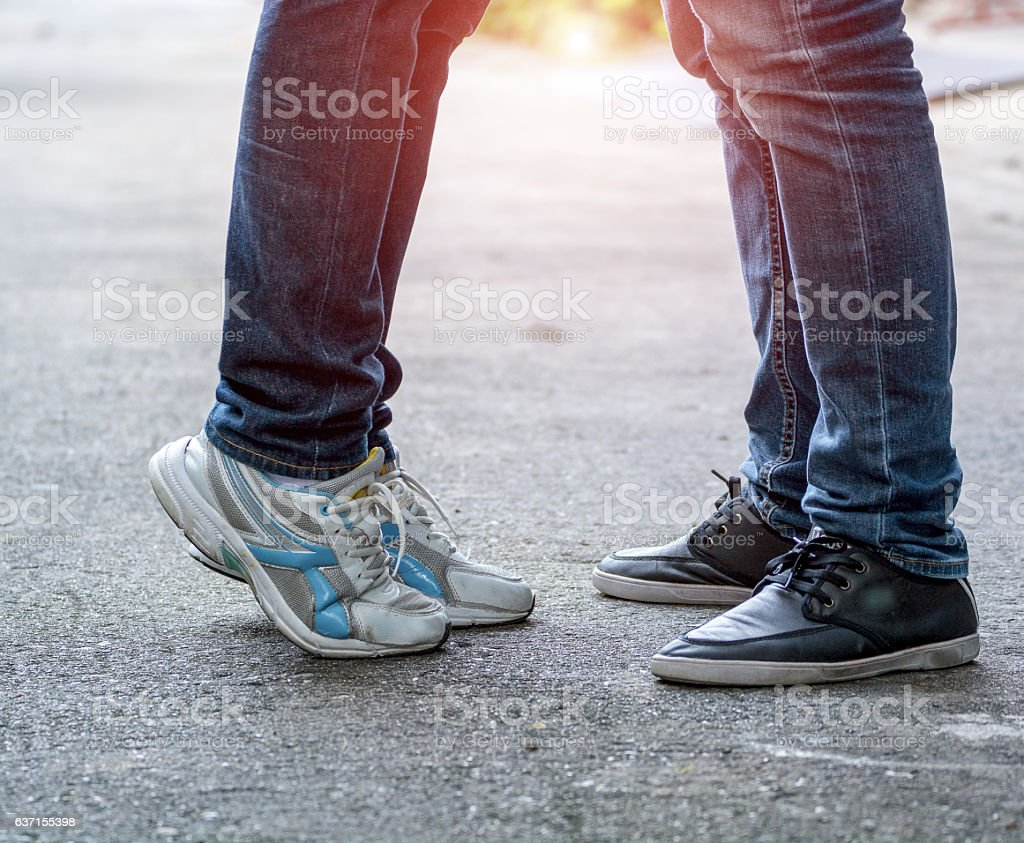 Cтоковое фото lovers,Couple,soulmate,homosexuality Male and female legs