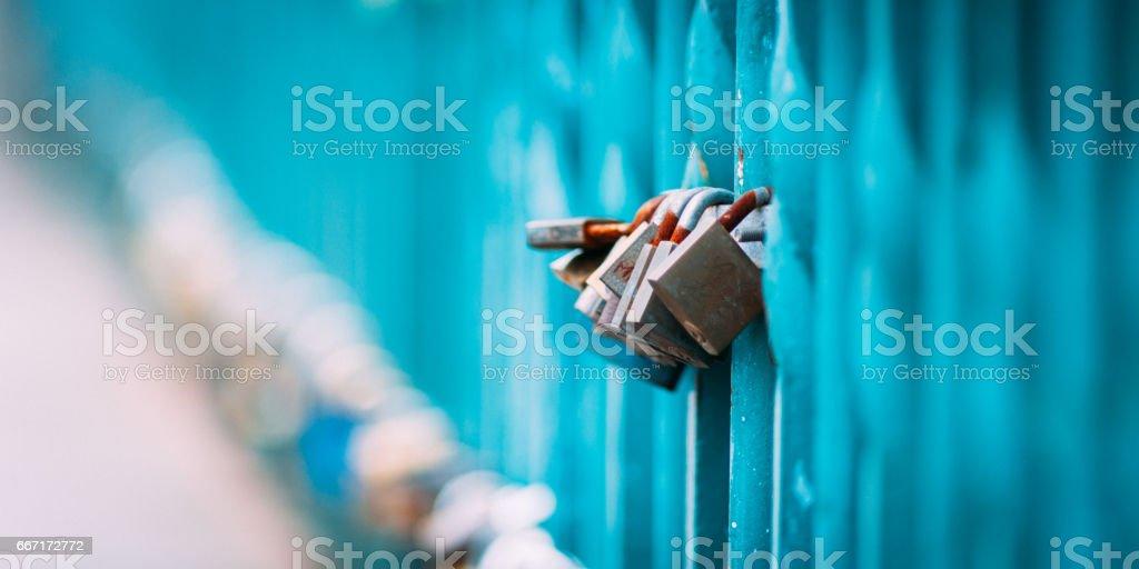 Love's locks! stock photo