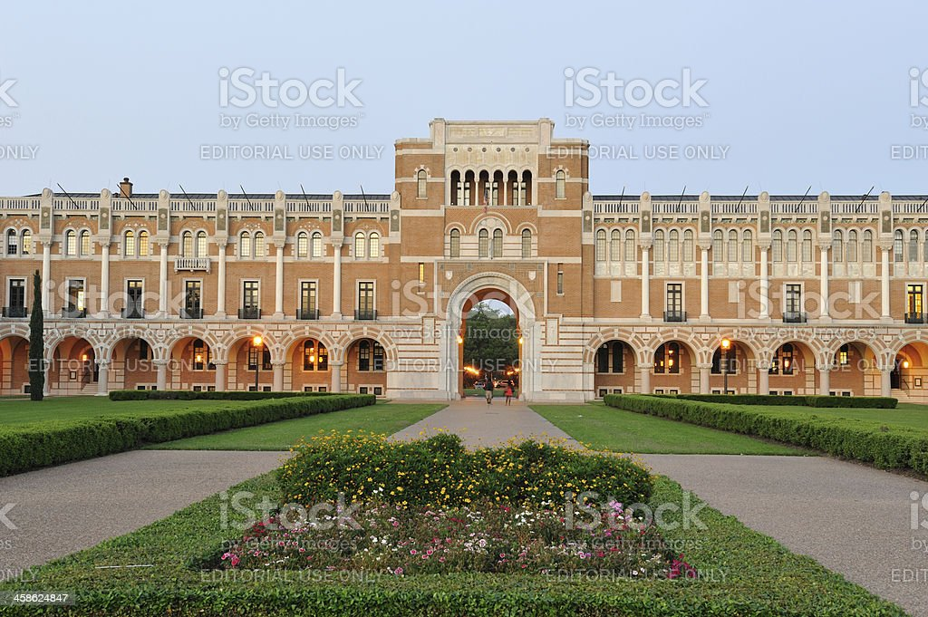 Lovett Hall in Rice University royalty-free stock photo