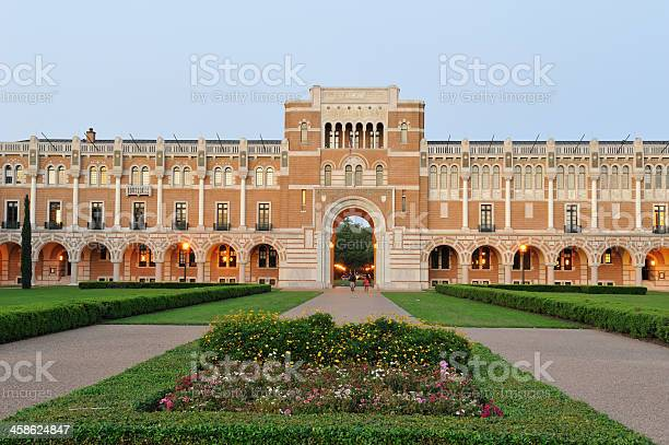Lovett Hall In Rice University Stock Photo - Download Image Now