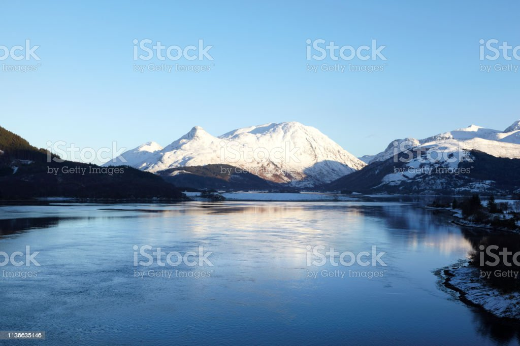 Lovh Leven and Glencoe, Scottish Highlands, Scotland, UK stock photo