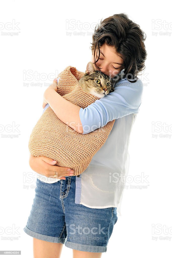 Lovin' My Cat stock photo