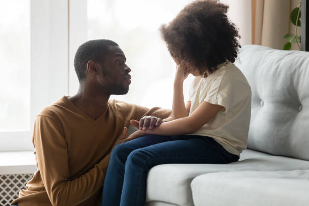Loving african dad comforting crying kid daughter showing empathy picture id1135353632?b=1&k=6&m=1135353632&s=612x612&w=0&h=qy6srobvtwsauam8m8ttce cdfyqo7e3u3avanjdu c=