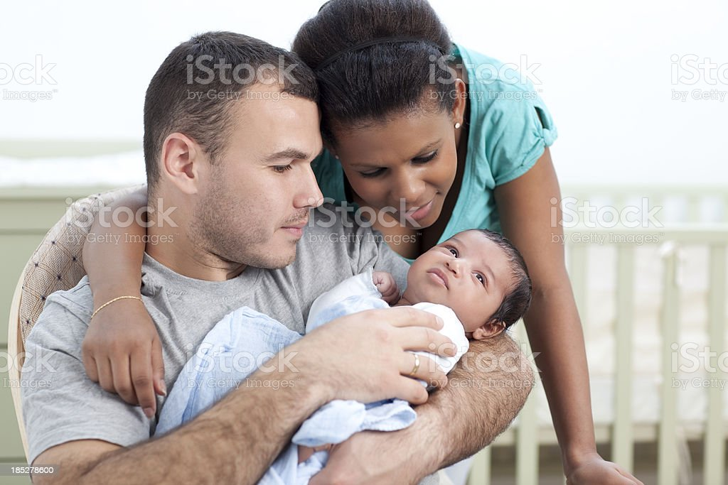 Loving and sweet family together. royalty-free stock photo