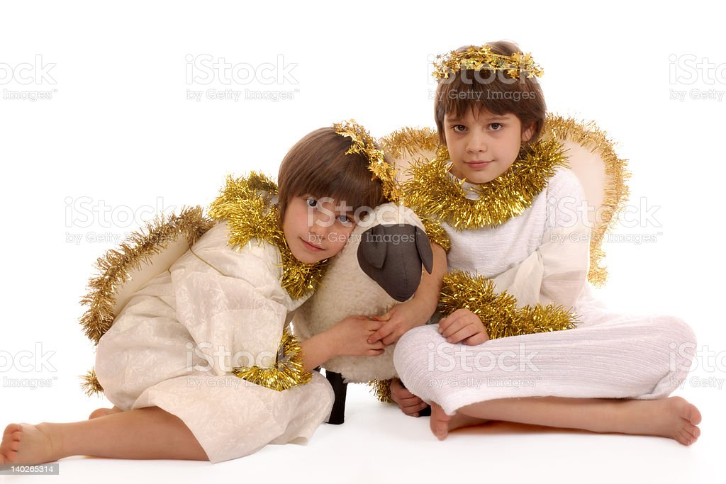 Loving Angels royalty-free stock photo