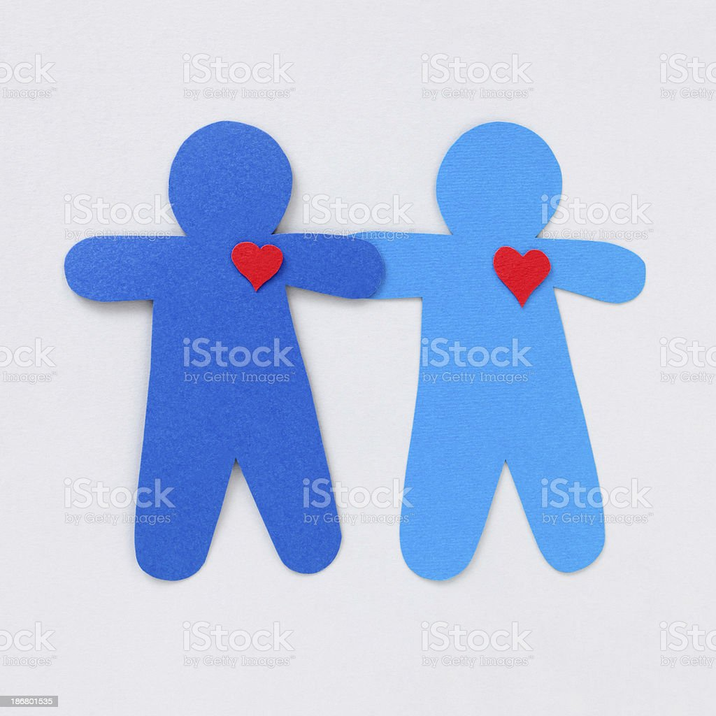 Loving boys couple stock photo