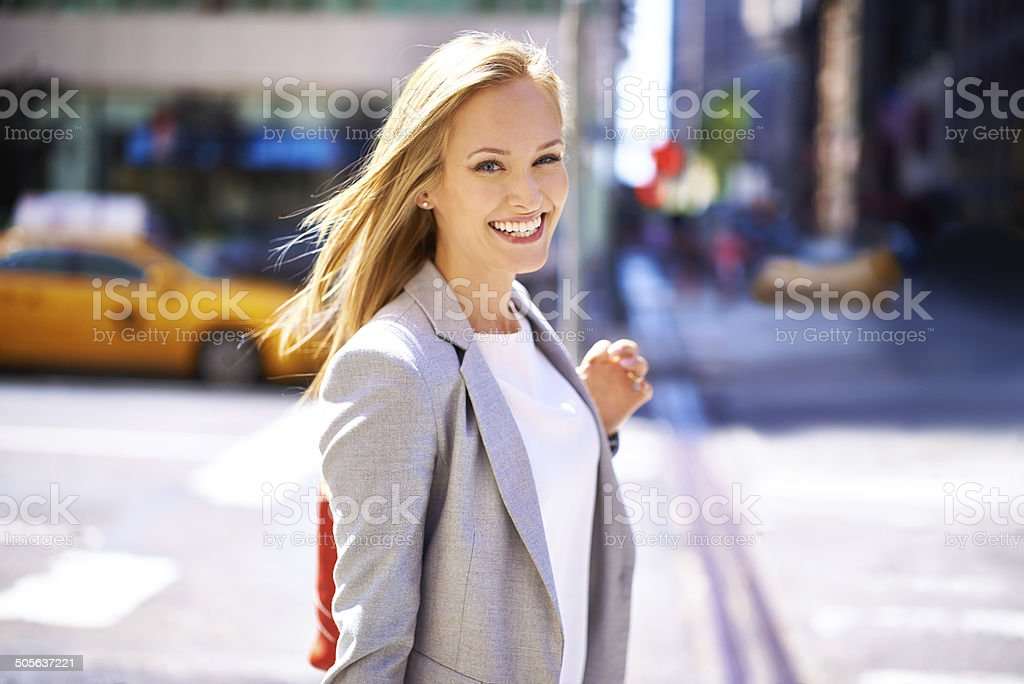 Loving city life stock photo