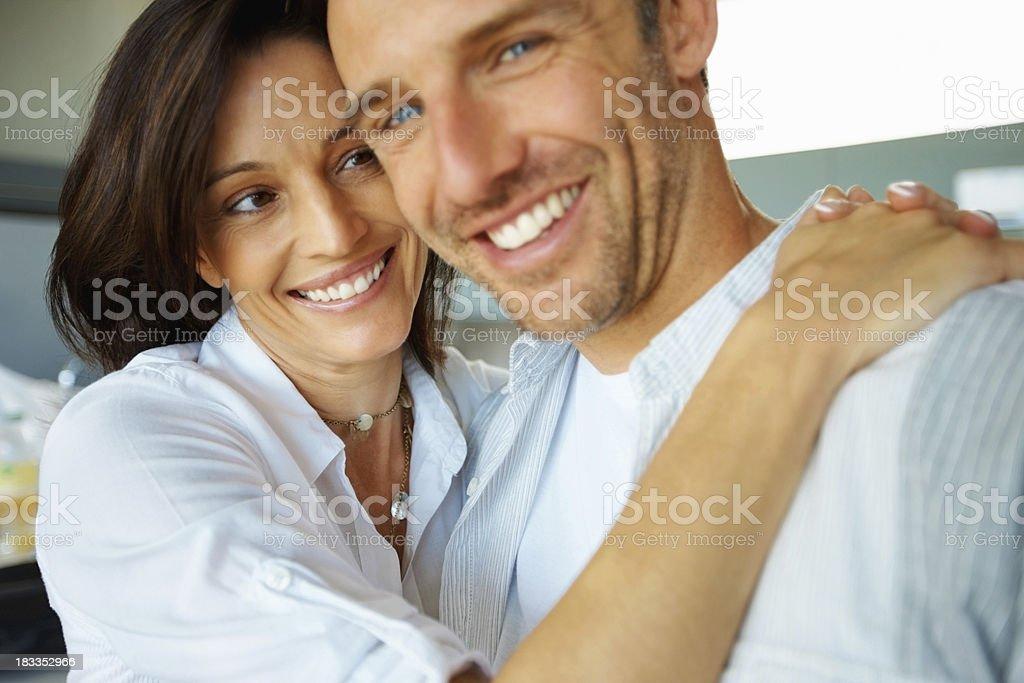 Loving couple embracing royalty-free stock photo