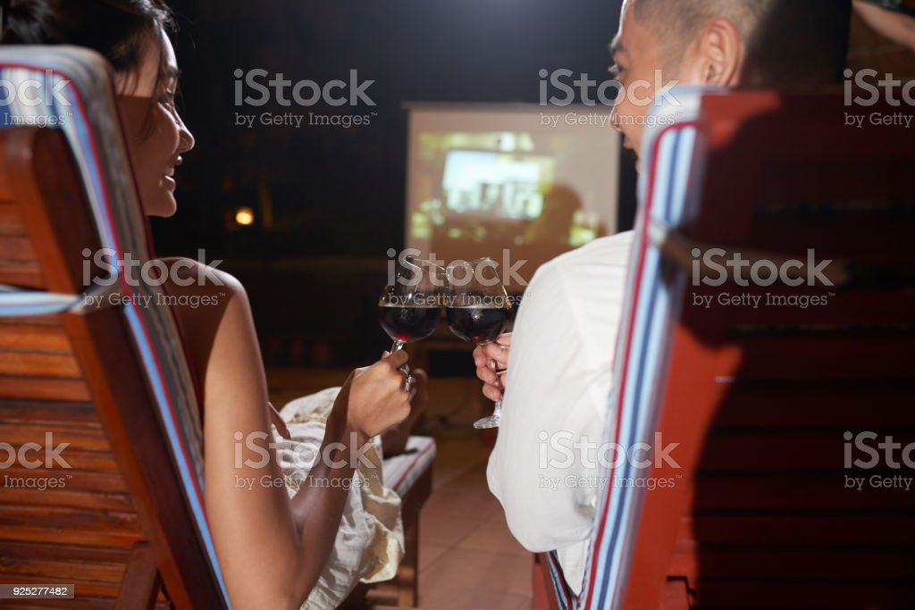 Loving Couple Enjoying Vacation stock photo