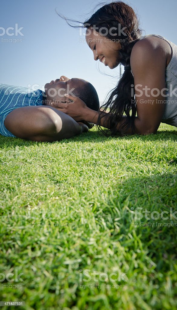 Loving couple in nature royalty-free stock photo