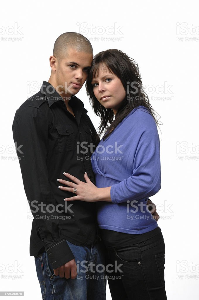 loving couple looking at camera royalty-free stock photo