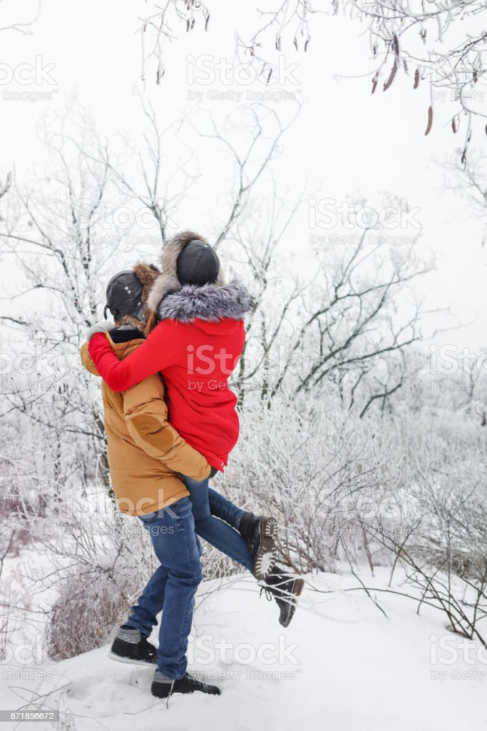 Loving Couple Of Teenagers Winter Stock Photo Download Image Now Istock