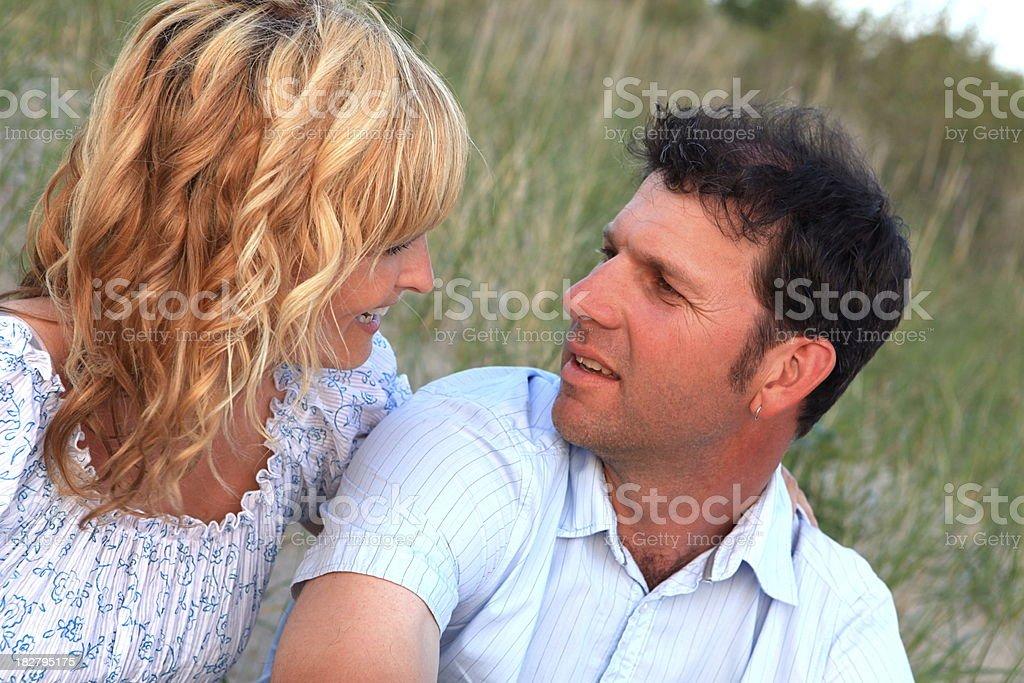 Loving Couple Talking royalty-free stock photo