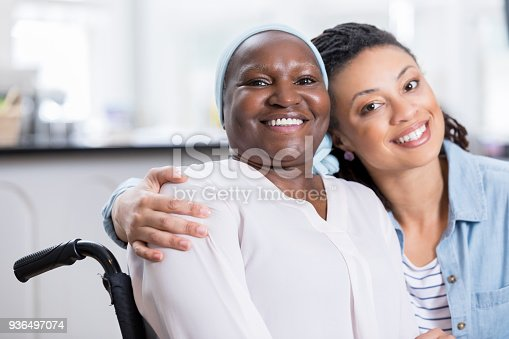 932074776istockphoto Loving daughter cares for aging mom 936497074