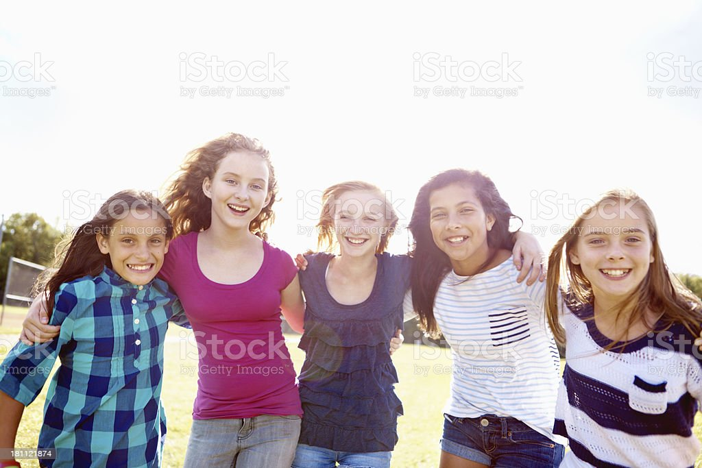 Loving every minute of summer vacation together! royalty-free stock photo