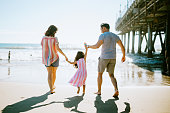 istock Loving Family Enjoying Sun at Los Angeles Beach 1266364790