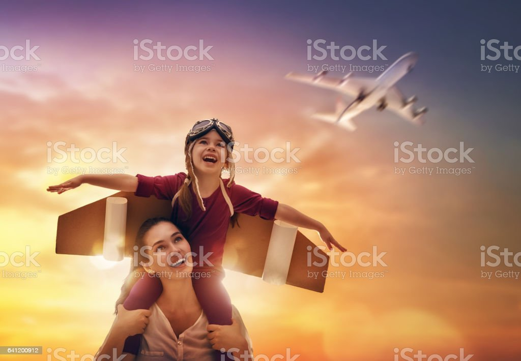 loving family having fun stock photo