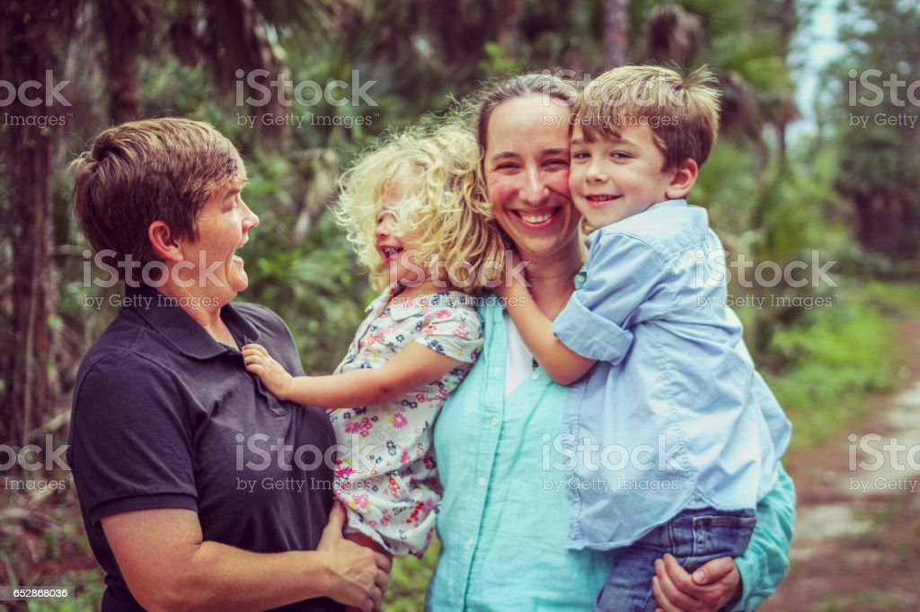 Loving Family stock photo