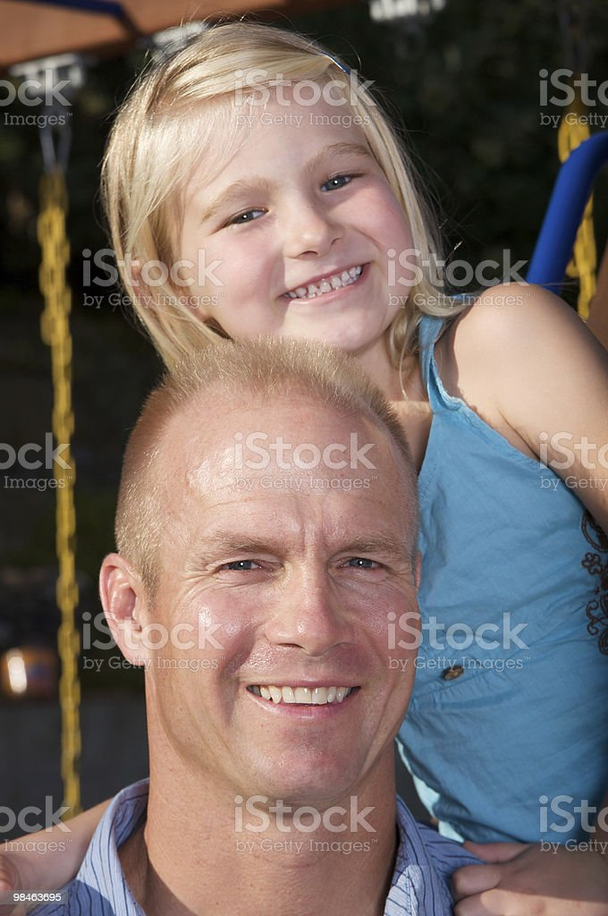 사랑하는 파더 및 딸이다 royalty-free 스톡 사진