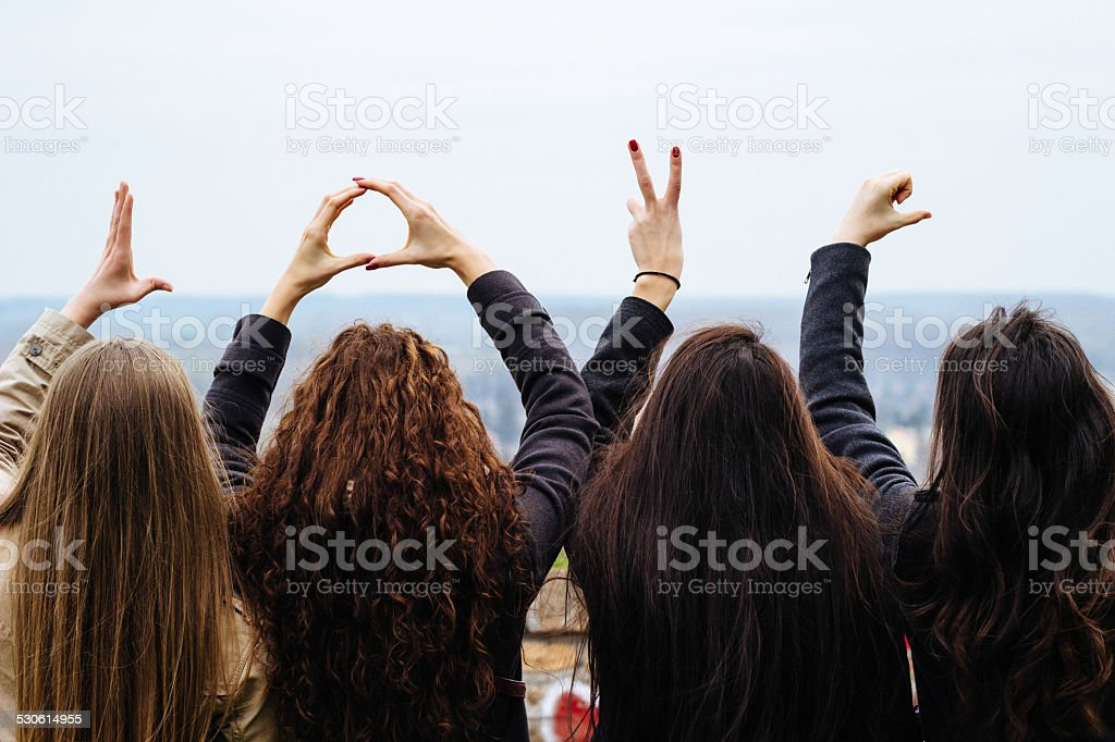 Loving friends stock photo